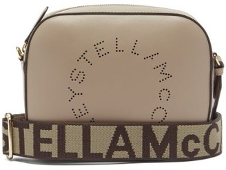 Stella McCartney Logo-strap Faux-leather Camera Bag - Light Purple