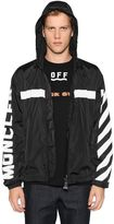 Moncler Off White Reflective Hooded Nylon Jacket