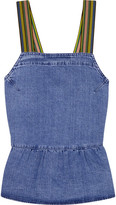 MiH Jeans Tennant Denim Peplum Top - Mid denim
