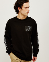 The Hundreds Neck Loose Long Sleeve T-Shirt Black
