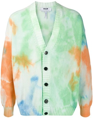 MSGM Tie-Dye Print Cardigan