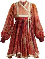 Etro Bangalore paisley-print cotton-blend wrap dress