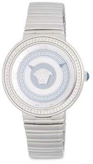 Versace Stainless Steel Braided Trim Bracelet Watch