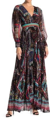 Alice + Olivia Cheney Slit Sleeve Pleated Dress