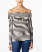 American Rag Striped Off-The-Shoulder Top, Only at Macy's