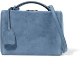 Mark Cross Grace Small Suede Shoulder Bag - Blue