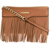 Rebecca Minkoff removable strap fringed clutch - women - Leather - One Size
