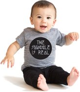 Crazy Dog T-shirts Crazy Dog Tshirts The Snuggle Is Real Infant T Shirt Cute Cuddles Baby Tee 6 To 12 Months