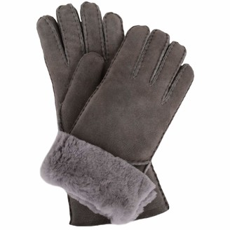 SNUGRUGS Women's Vicky Sheepskin Glove With Fold Back Cuff Scarf