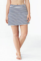 Lands' End Women's Plus Size Beach Living SwimMini Control-Deep Sea Stripe