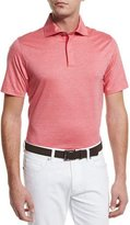 Ermenegildo Zegna Stretch-Cotton Polo Shirt, Strawberry Red
