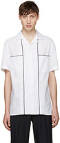 Lanvin White Open Collar Shirt