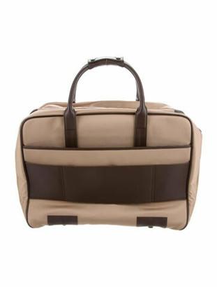 Montblanc Woven Canvas Suitcase Brown