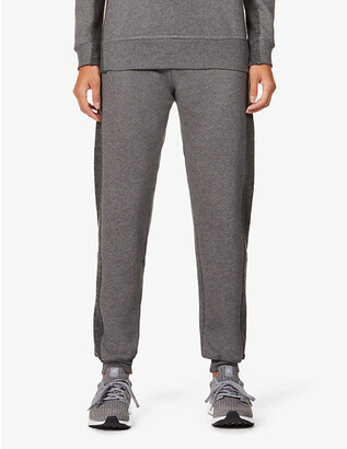 Vaara Amie contrast-stripe tapered organic-cotton jogging bottoms