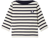 Petit Bateau Baby boys heavy jersey sailor-style top