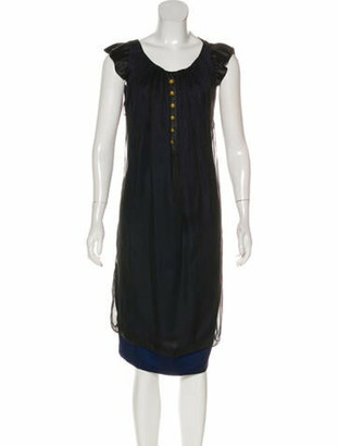 Valentino Silk Midi Dress w/ Tags Black