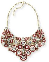 JCPenney Red & Cream Bib Necklace