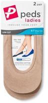 Peds Women's Coolmax Liner Petite 2-Pack - S