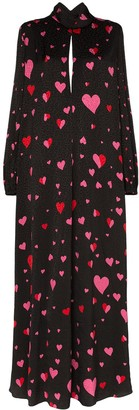Racil Barbara heart print maxi dress