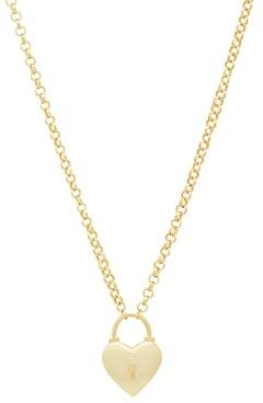 Gorjana Kara Heart Padlock Pendant Necklace, 18