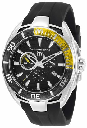 Technomarine Men's Cruise California II Stainless Steel Quartz Watch with Silicone Strap