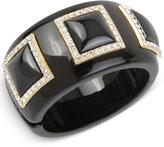INC International Concepts IRIS X Pavé Acrylic Bangle Bracelet, Only at Macy's