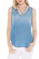Bella Dahl Denim V Neck Top