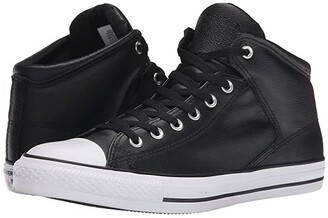 Converse Chuck Taylor(r) All Star(r) Hi Street Leather (Black/White) Classic Shoes