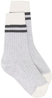 Brunello Cucinelli Ribbed-Knit Ankle Socks