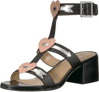 The Fix Amazon Brand Women's Molli Triple Heart Block Heel Sandal