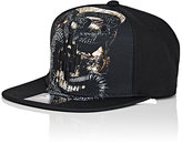 Marcelo Burlon County of Milan Men's Logo-Embroidered Snake-Print Tech-Twill Baseball Cap-BLACK