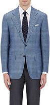 Kiton Men's Checked Cashmere-Silk Two-Button Sportcoat