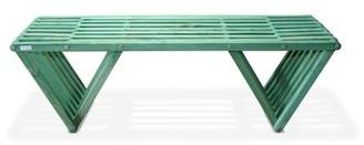 Union Rustic Darende Wooden Garden & Picnic Bench Color: Alligator Green