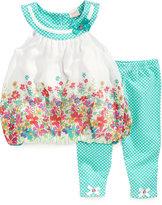 Nannette Little Girls' 2-Piece Bubble Hem Tunic & Capri Leggings Set