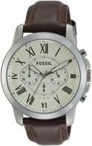 Fossil Men's FS4735 Grant Analog Display Analog Quartz Brown Watch