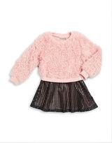Calvin Klein Girls 2-6x Faux Fur-Accented Dress