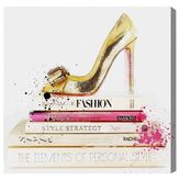 Oliver Gal Gold Shoe and Fashion Books Canvas