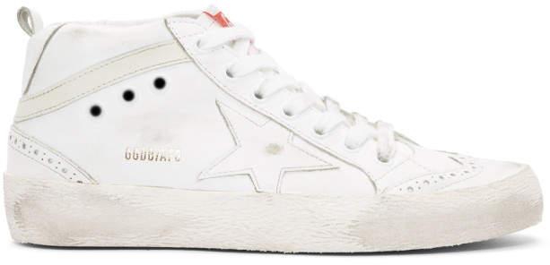 Golden Goose White Mid Star Sneakers