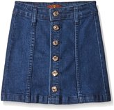 7 For All Mankind Big Girls High Waisted Denim Skirt
