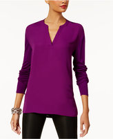 INC International Concepts Split-Neck Top, Created for Macy's