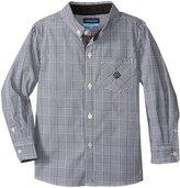 Andy & Evan Formal Check Shirt (Toddler/Kid) - Black - 6 Years