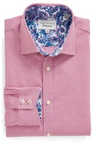 Ted Baker Men's 'Swinsin' Trim Fit Check Dress Shirt
