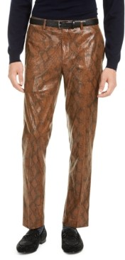 Tallia Men's Brown Snakeskin Pants