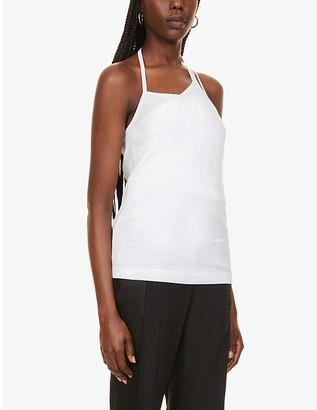 Helmut Lang Asymmetric cotton-jersey top