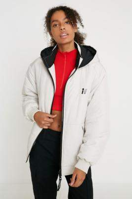 Urban Outfitters Iets Frans... iets frans. Maisie Lightweight Padded Puffer Jacket - beige XS at