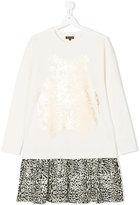 Roberto Cavalli metallic print sweatshirt dress - kids - Cotton/Spandex/Elastane - 14 yrs