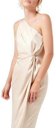 Forever New Petites Vyla Petite One Shoulder Twist Midi Dress