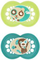 Mam Silicone Cartoon Pacifier, Boy, 6 Plus Months, 2-Count, (For Boy)