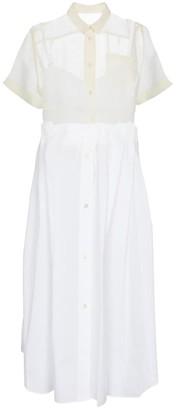 Sacai Cotton-blend midi dress