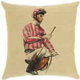 Pink Stripe Jockey and Boots Cushion